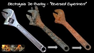 "Electrolysis De Rusting  - ""Reversed Experiment"""
