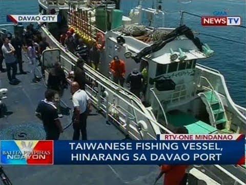 BP: Taiwanese fishing vessel, hinarang sa Davao port