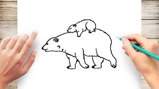 How to Draw Realistic Polar Bear
