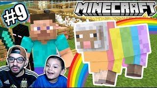 Tengo una Oveja Arcoiris en Minecraft | Trampa para Enderman | Juegos Karim Juega