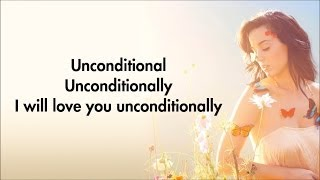 Repeat youtube video Katy Perry - Unconditionally [Karaoke/Instrumental] with lyrics