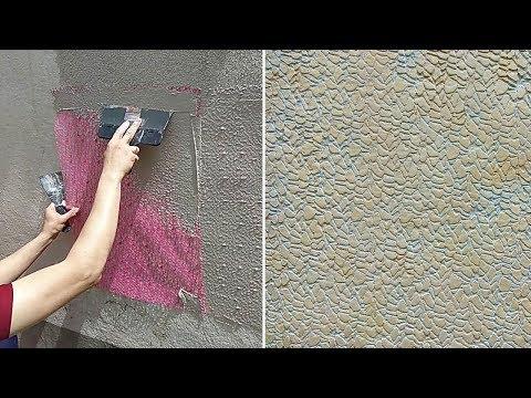 видео: Декоративная шпаклевка (штукатурка) своими руками. ЭКСПЕРИМЕНТ