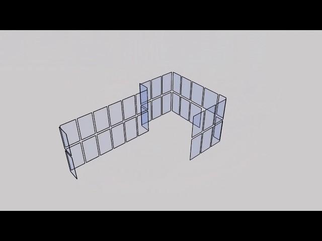 Построение  первичной визуализации светопрозрачной конструкции в SketchUp.  Выпуск #62