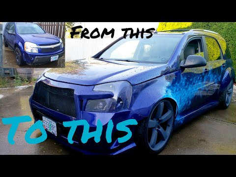 Full Custom Home Made Widebody Kit On A Chevrolet Equinox In 7 Minutes
