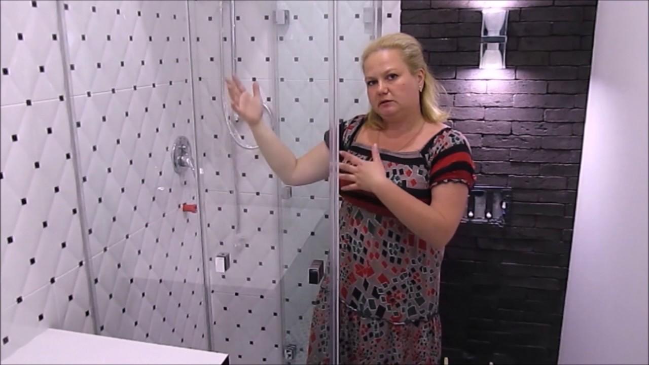 Монтаж и установка душевой двери - YouTube