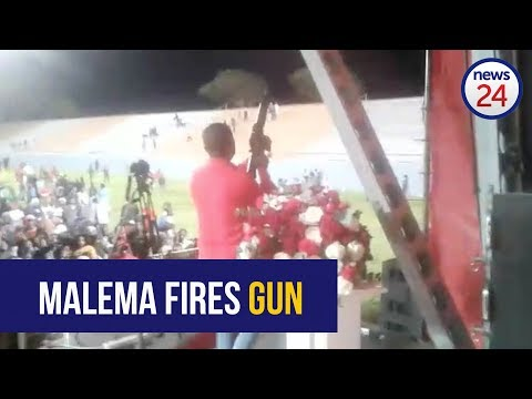 WATCH: Julius Malema appears to fire assault rifle during EFF after party rally