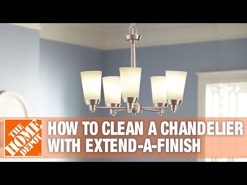 How To Clean A Chandelier With Extend Finish The Home Depot