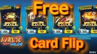 Naruto Online: Free Card Flip / 20 Seal Scroll  1/20/17