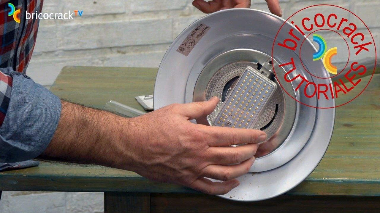 Cambiar por LED lmpara de pie halgeno Bricocrack  YouTube