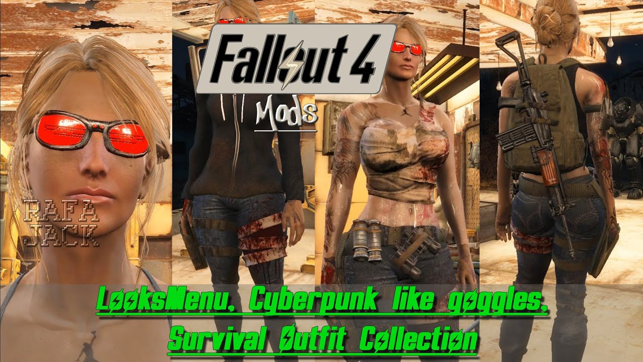 Fallout 4 Mods #18 - LooksMenu, Cyberpunk like goggles, Survival Outfit  Collection