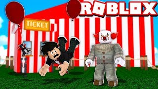 EVIL CLOWN IN THE HAUNTED CIRCUS | ROBLOX-Circus