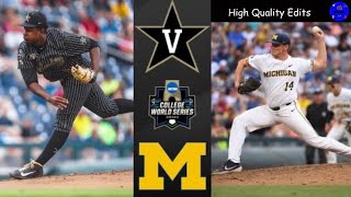#2 Vanderbilt vs Michigan | 2019 College World Series Final Game 2 Highlights