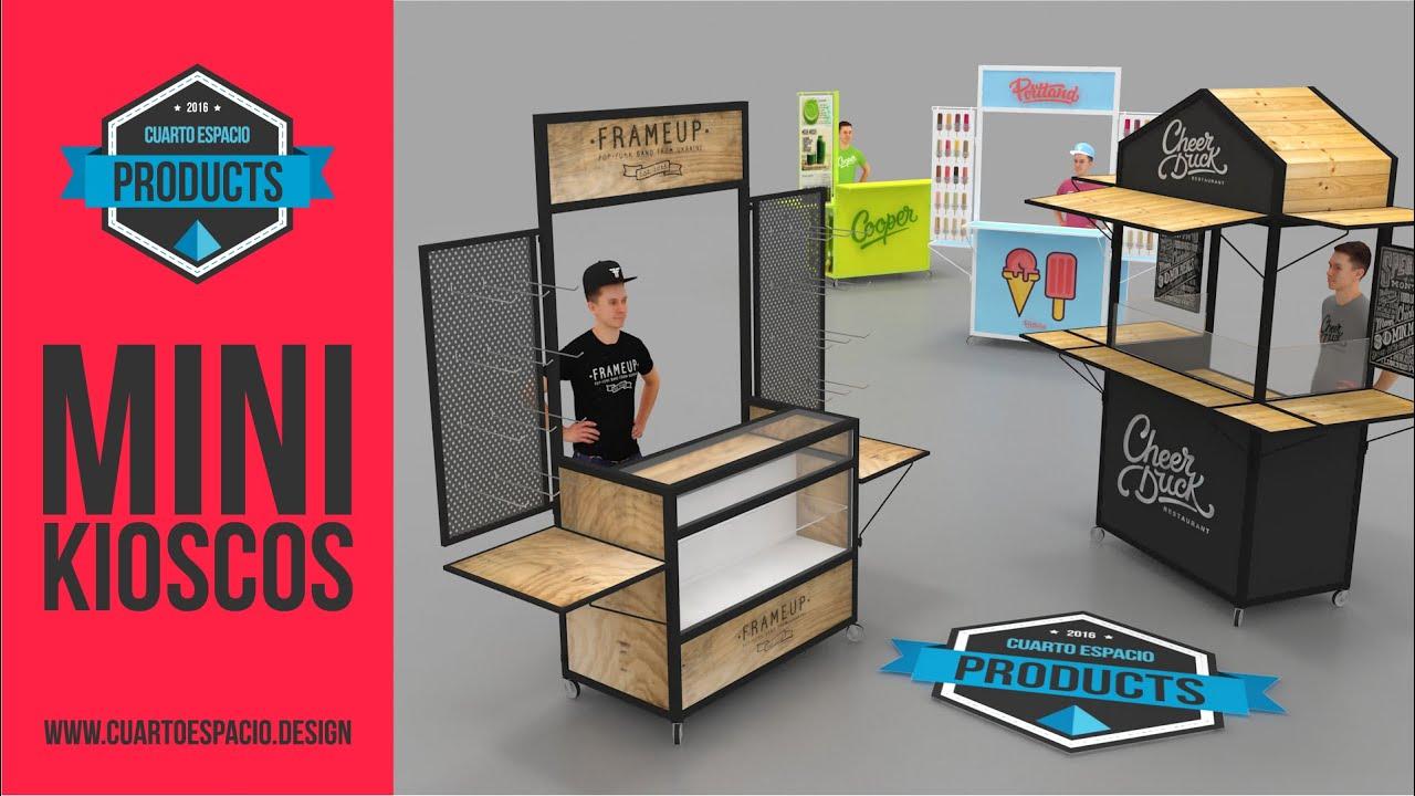 Dise o de kioscos para emprendedores cuarto espacio youtube for Diseno de kioscos en madera