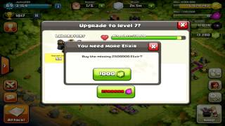Clash of Clans - Maxing Out Base.. 22,000 Gems!! Max Level 6, Troops! #1