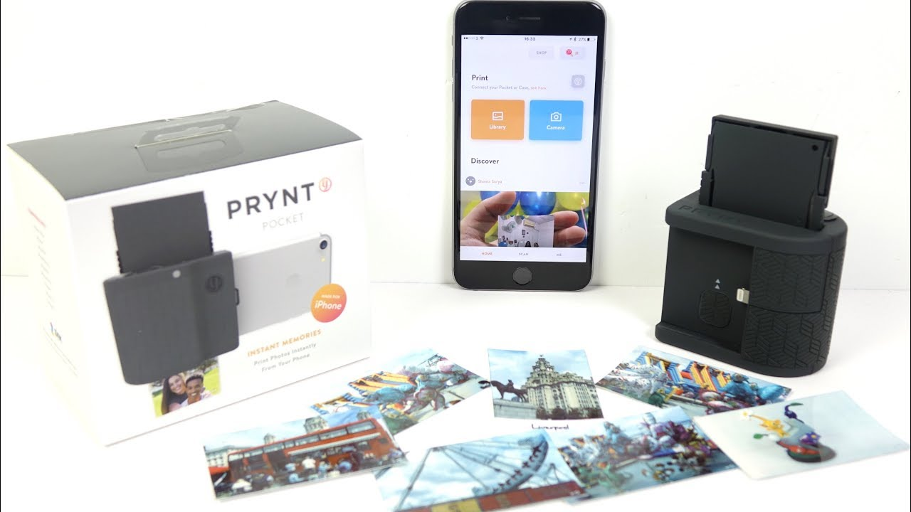 Prynt Pocket Iphone Zink Printer Review Youtube