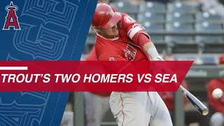 Trout crushes two home runs against Mariners