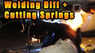 Drift Prepping Ross's Volvo! (Diff Weld, Springs Cut)