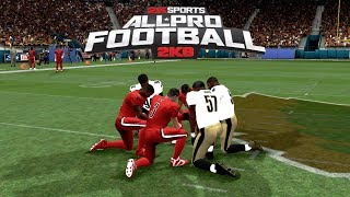 APF 2K8 Roster Test..Falcons VS. Saints CPU gameplay