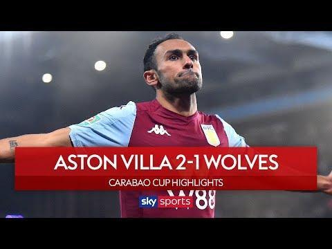 Elmohamady flick secures Villa quarter-final spot! | Aston Villa 2-1 Wolves | Carabao Cup Highlights