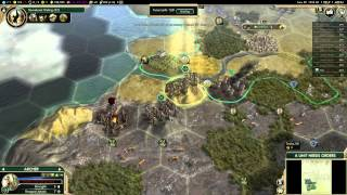 Let's Play Civilization 5: Conquest of the New World-Pocatello (Pt 1) Emperor Difficulty Gameplay