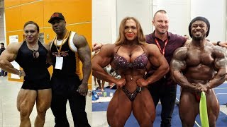 When a girl is bigger than Mr. Olympia champions