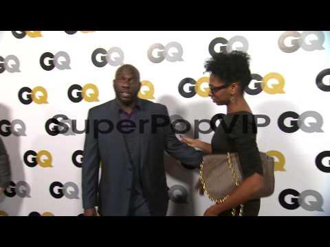 Omar J. Dorsey and Conisha Dorsey at GQ Men Of The Year P...