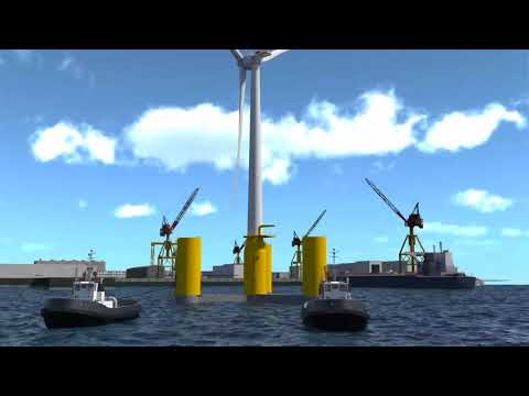 How it works: Groix & Belle-Ile floating  wind farm project by Michel Chevalet