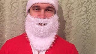 Как связать бороду для костюма Деда Мороза. Вязание спицами.