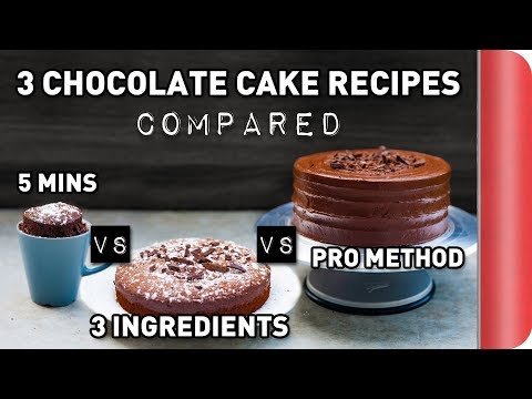 3 Chocolate Cake Recipes COMPARED Ft. Rosanna Pansino!