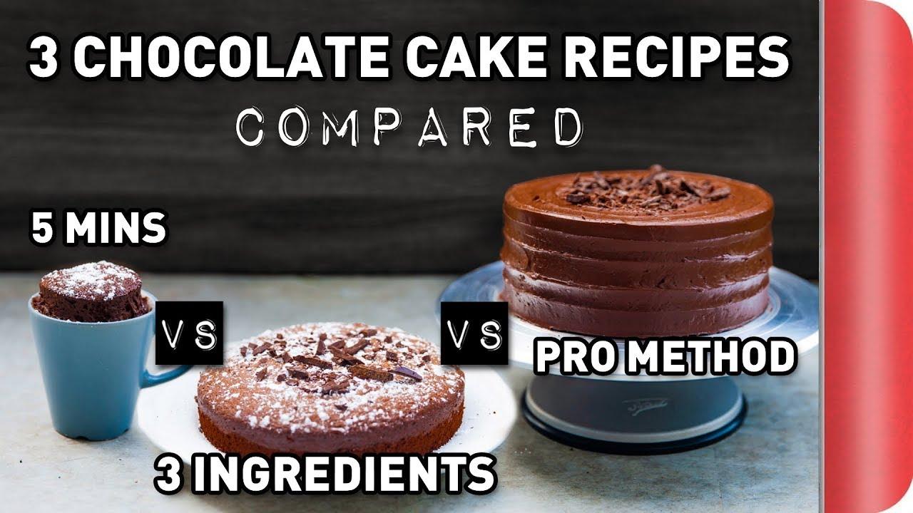 3 Chocolate Cake Recipes COMPARED Ft. Rosanna Pansino ...