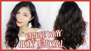 Vintage Wavy Hair Tutorial | theChency