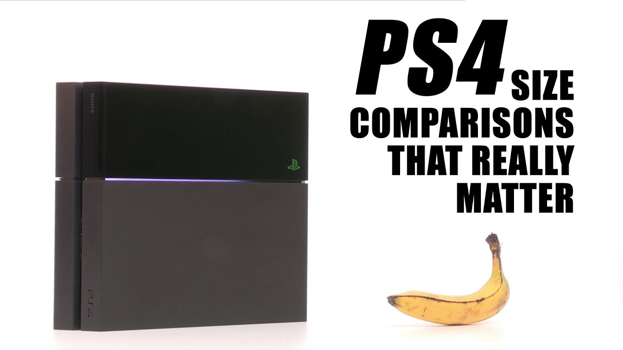 PlayStation 4: Size Comparisons That Really Matter