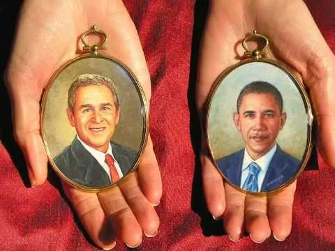 Presidential Portrait Miniature Paintings