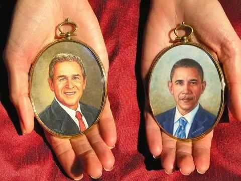 Presidential Portrait Miniature Paintings
