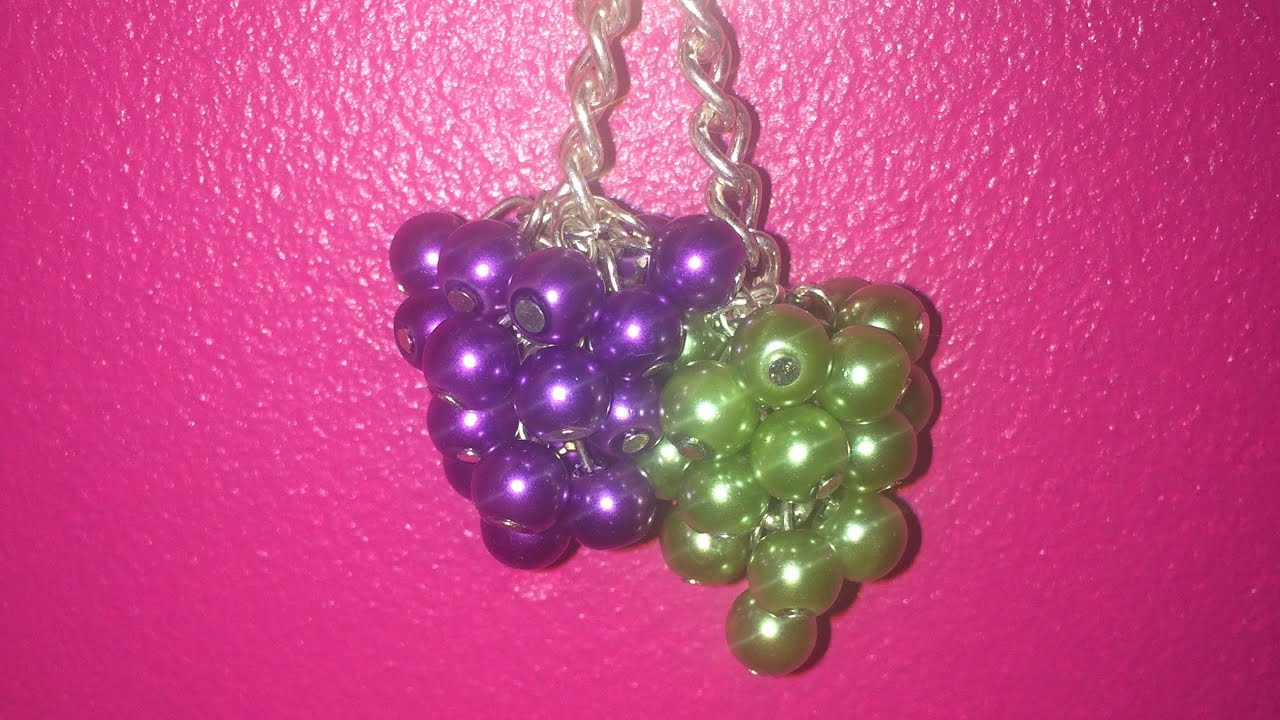 How To Make Beaded Grapes Youtube