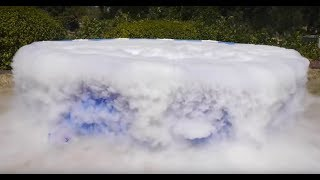 MAN POURS 1000 POUNDS OF DRY ICE INTO POOL