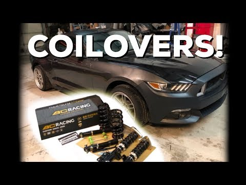 BC RACING Coilover Install – 2015 Ford Mustang Ecoboost Drift Car!