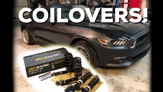 BC RACING Coilover Install - 2015 Ford Mustang Ecoboost Drift Car!