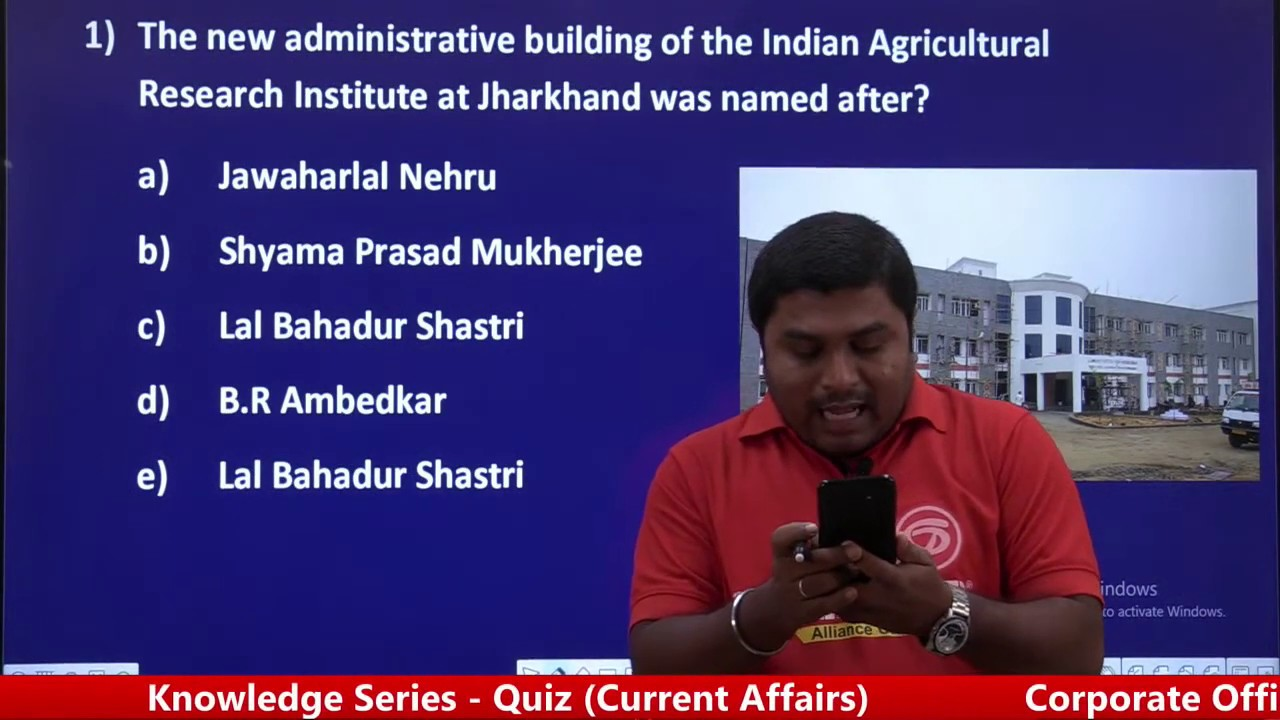 Knowledge Series - LIVE Quiz (Current Affairs) @Career Planner
