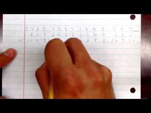 Credit card check digit calculation.