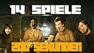 14 Videospiele in 200 Sekunden
