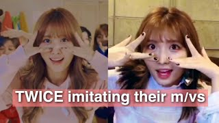 Download TWICE imitating their music videos Mp3 and Videos