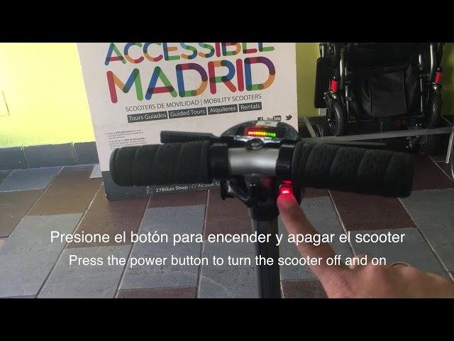 Scooter plegable ligero para alquilar Luggie Elite