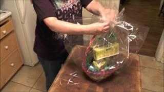 CHRISTMAS CELLOPHANE GIFT BAG /& MATCHING BOW HAMPER GIFT WRAP PRESENT FOIL B