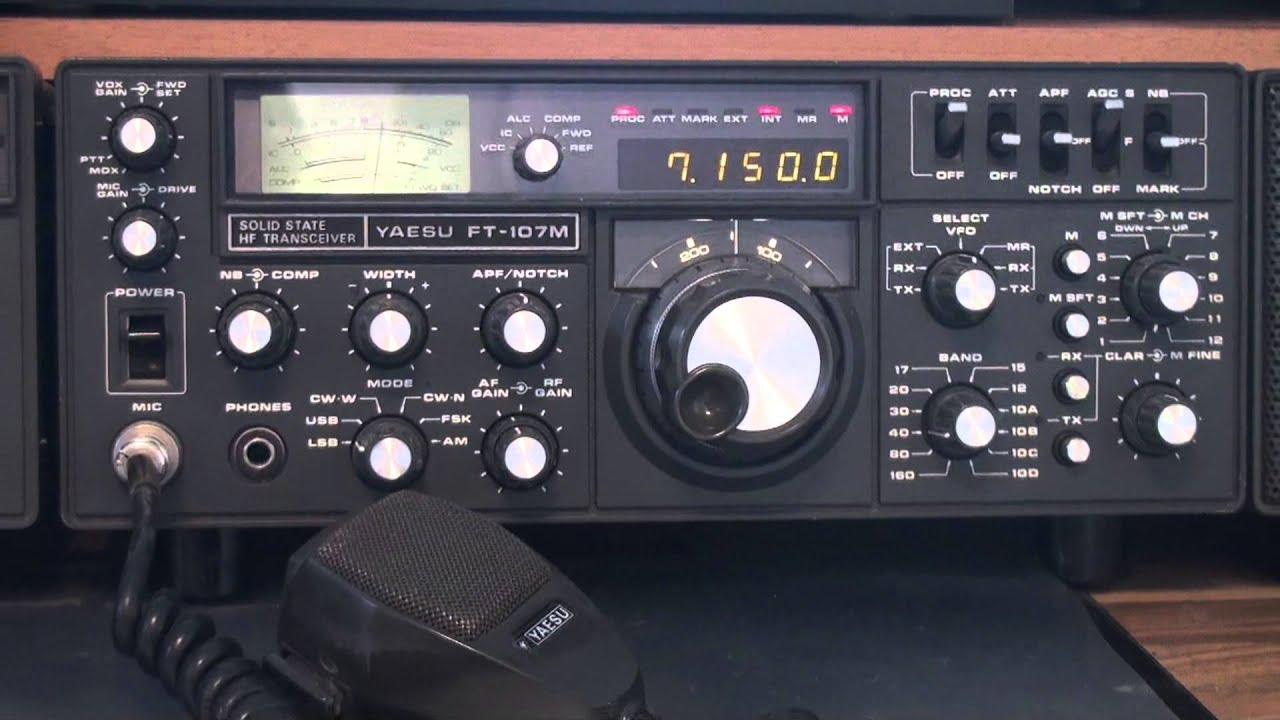 Yaesu FT107M including FP-107 and transverter FTV-107R ...