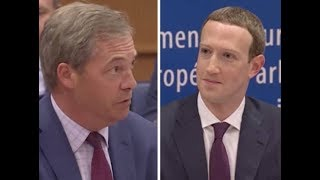 Moment Nigel Farage Grilled Mark Zuckerberg Over Facebook Impartiality