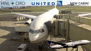 TRIPREPORT | United Airlines | Honolulu to Chicago | B777-222 | NEW Domestic Economy Cabin!