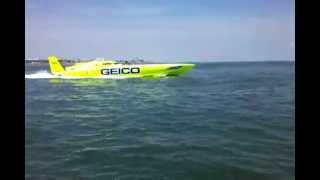 Racing the world's fastest boat!