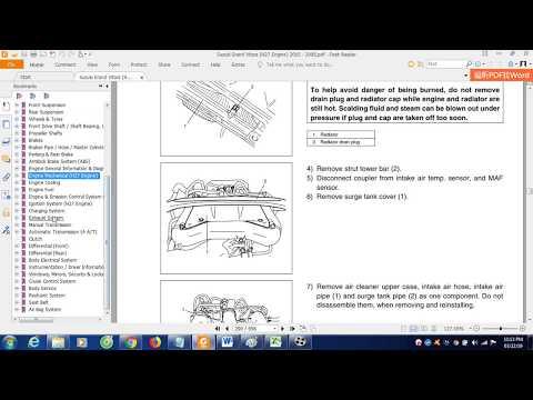 Suzuki Grand Vitara (H27 Engine) 2005 - 2008 Workshop Manual Free