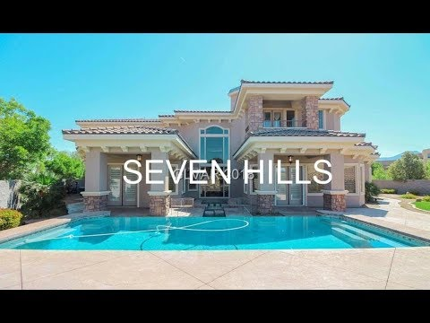 Seven Hills Home For Sale Henderson | $1.8M | 4 Beds | 7 Baths | Movie | Loft | 3 Car